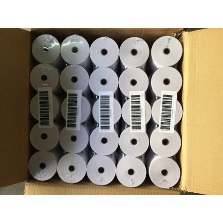 Caja 50 rollos papel térmico 80X80X12 MM