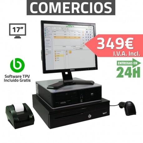"""TPV 17"""" 4GB Tienda y Supermercados - 58mm - Lector de mano"""