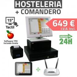 TPV Táctil 15'' Wincor Nixdorf + Tablet - Restaurantes y Bares - 80mm