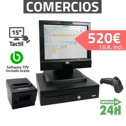 TPV Compacto Táctil 15'' - Tiendas y Comercios - 80mm