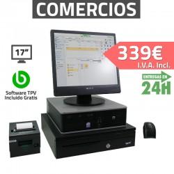 """TPV 17"""" 2GB Tienda y Supermercados - 80mm - Lector de mano"""