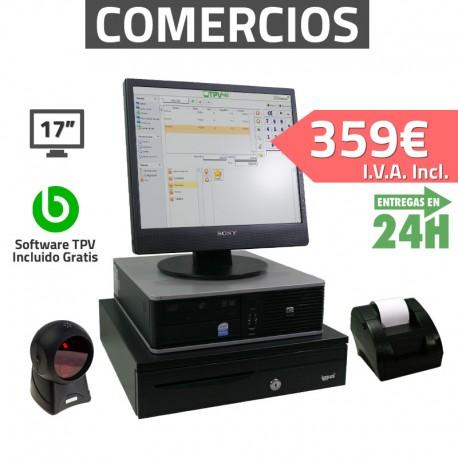 """TPV 17"""" 2GB Tienda y Supermercados - 58mm - Lector Omnidireccional"""