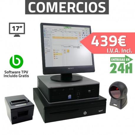 """TPV 17"""" 2GB Tienda y Supermercados - 80mm - Lector Omnidireccional"""