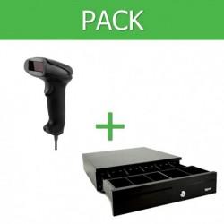 Pack Lector Códigos de Barra USB + Cajon Portamonedas