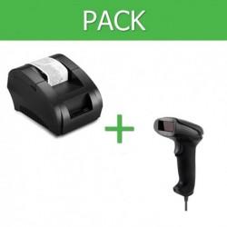 Pack Impresora Ticket 58mm + Lector Códigos de Barra USB