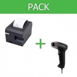 Pack Impresora Ticket 80mm + Lector Códigos de Barra USB