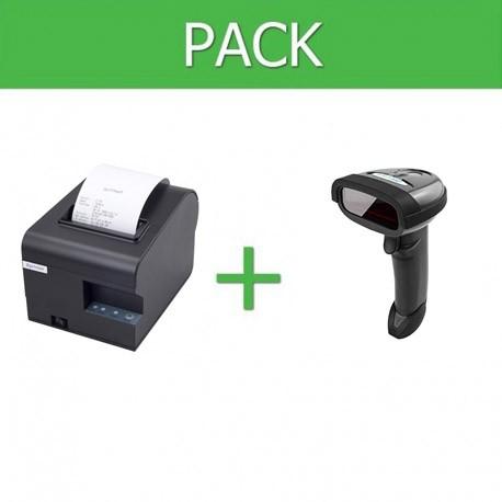 Pack Impresora Ticket 80mm + Lector Códigos de Barra Inalámbrico