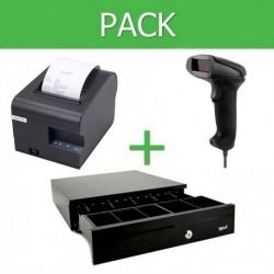 Pack Impresora Ticket 80mm + Lector Códigos de Barra USB + Cajon Portamonedas