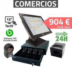 """TPV Tactil 15"""" PT-15IIN264 Tiendas y Comercios - 80mm - Lector de mano"""