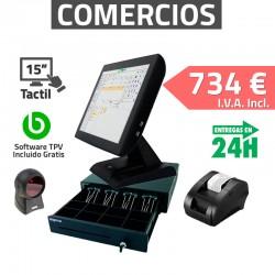 TPV Táctil KT-800 15'' Omnidireccional Tiendas y Comercios 80mm