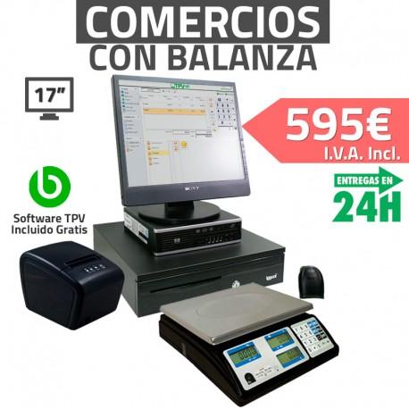 """TPV 17"""" Tiendas y Comercios - 58mm - Lector Usb - 4Gb"""