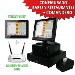"TPV TÁCTIL 15"" con tablet para Restaurantes y Bares - 58mm"