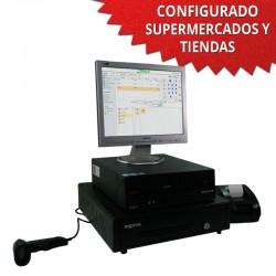 """TPV 15"""" Supermercados y Tiendas - 58mm - Lector de mano"""