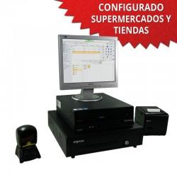 """TPV 15"""" Supermercados y Tiendas - 80mm - Lector Omnidireccional"""