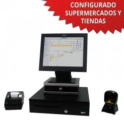 """TPV 15"""" Tienda y Supermercados - 58mm - Lector Omnidireccional"""