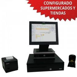 """TPV 15"""" Tienda y Supermercados - 80mm - Lector Omnidireccional"""
