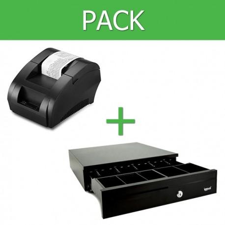 Pack Impresora Ticket 58mm + Cajon Portamonedas